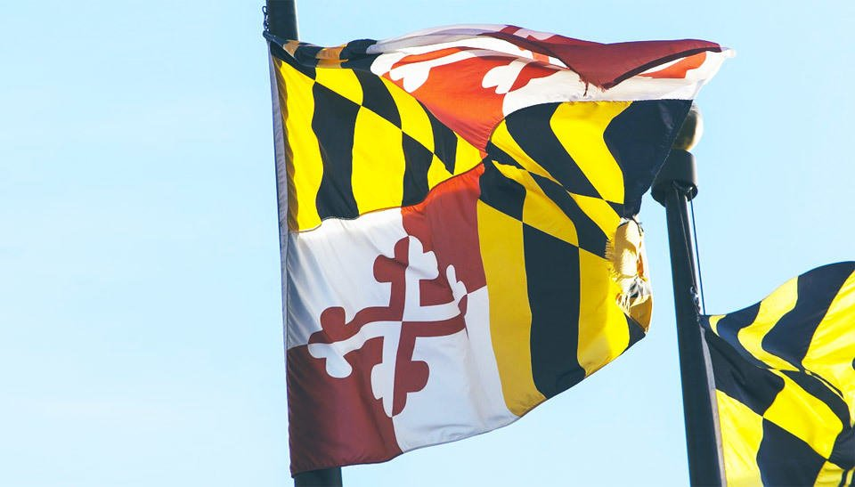 a christian college in maryland waiving the maryland flag